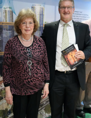Hope Colgrove, Stephen Sheaffe with her recent book
