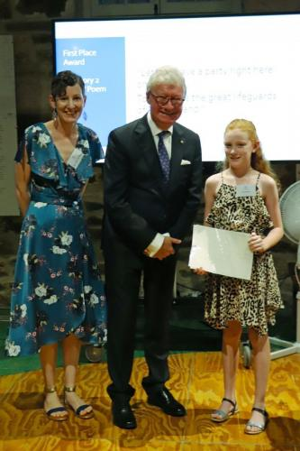 His Excellency Paul de Jersey and Elsie Hoffmann (First Prize, Category Two)