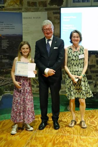 His Excellency Paul de Jersey and Lili Masters (Second Prize, Category Three)