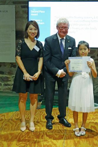 His Excellency Paul de Jersey and Amber Zhao (Second Prize, Category two)